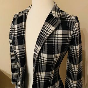 Vintage black & white plaid blazer by Dimension